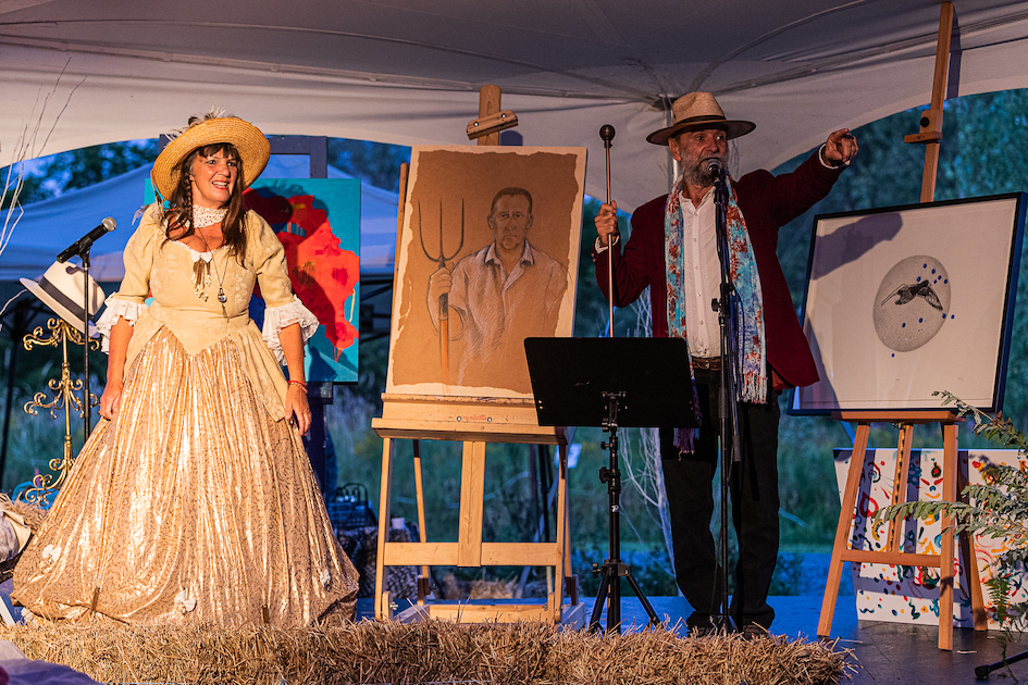 Madame Zazou and Paul Dorion in auction: Picture Danny Landry
