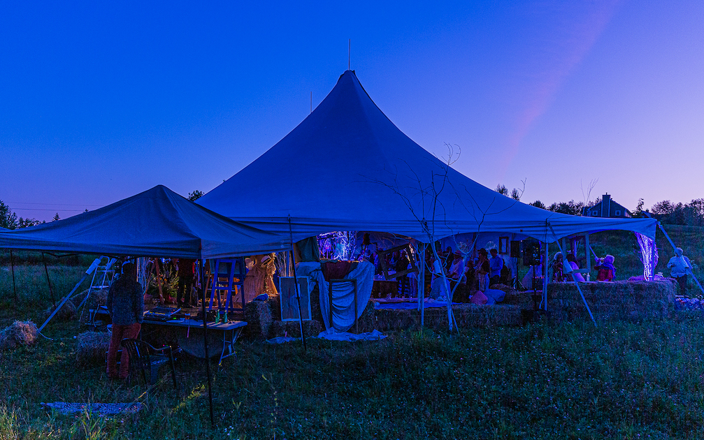 Tent in the evening  : Picture Danny Landry
